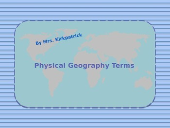 Physical Geography Terms