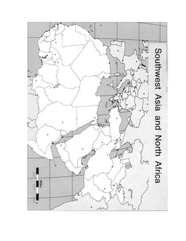 Map Activity North Africa - Southwest Asia - Physical Geog