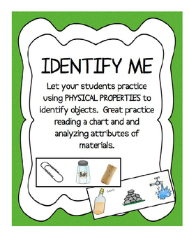 Physical Properties - Identify Me! - Using tables of info