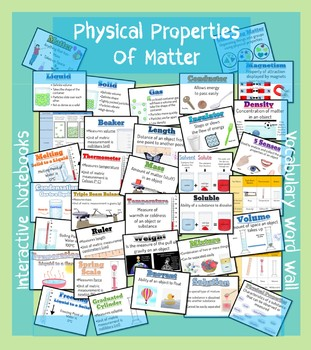 Physical Properties of Matter - Vocabulary Word Wall