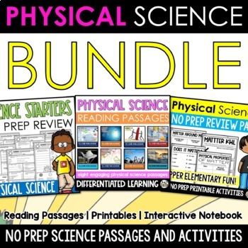 Physical Science 4 IN 1 Huge Resource Bundle (Middle Grade