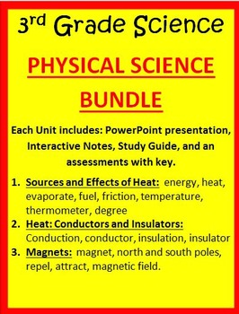 Physical Science BUNDLE - 3rd Grade Science