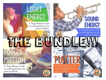 Physical Science Big Ideas BUNDLE: Light, Sound, Forces, & Matter
