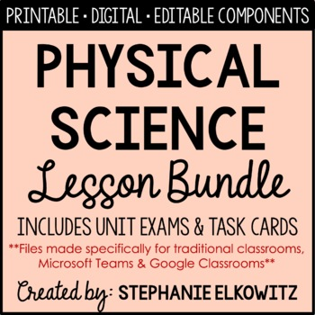Physical Science Curriculum (Interactive Notebooking, Powe