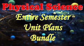 Physical Science Entire Semester Unit Plan Bundle