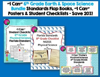 Physical Science Florida Standards I Can Posters, Checklis