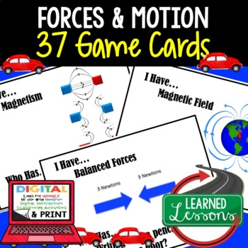 Physical Science Forces & Motion 37 I Have Who Has Game Cards