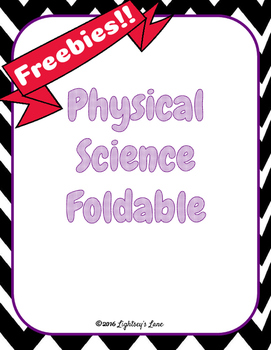 Physical Science Freebie