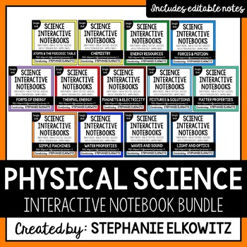 Physical Science Interactive Notebook Bundle (Differentiated)