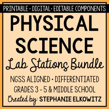 Physical Science Lab Stations Bundle