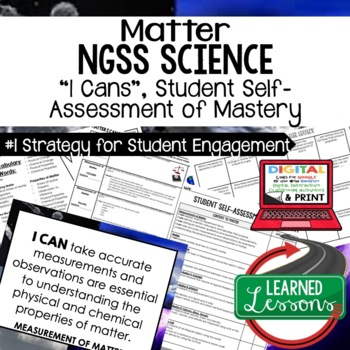 Physical Science Matter I Cans Student Self Assessment