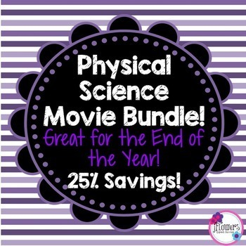 Physical Science Movie Questions Bundle! Great for the End
