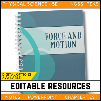 Motion & Forces: Physical Science Notes, PowerPoint & Test