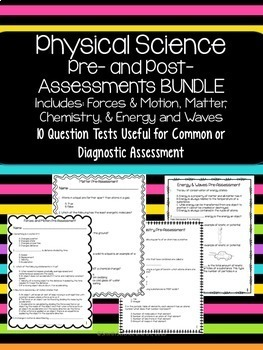 Physical Science Quiz BUNDLE