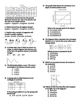 Physical Science Review with Diagrams