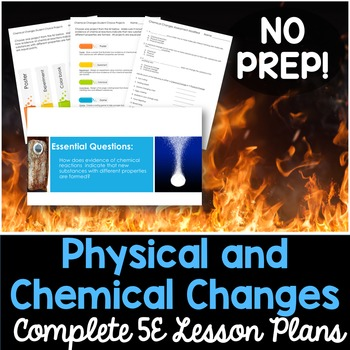 Physical and Chemical Changes Complete 5E Lesson Plan