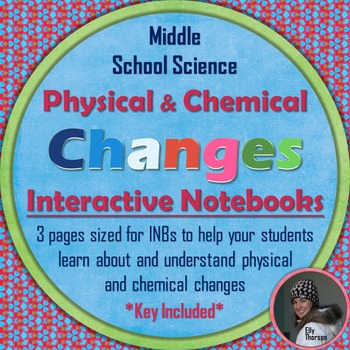 Physical and Chemical Changes Interactive Notebook Pages