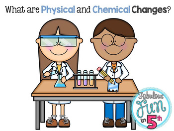 Physical and Chemical Changes PowerPoint and Foldable