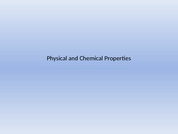 Physical and Chemical Notes