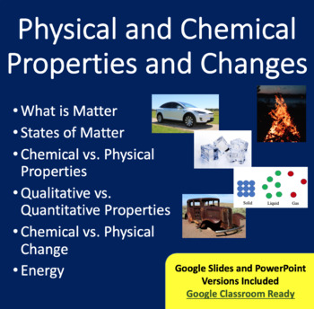 Physical and Chemical Properties and Changes Lesson Packag