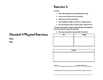Physical and Chemical Reactions Lab Sampler