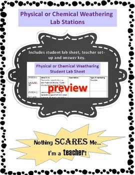 Physical and Chemical Weathering Lab Stations