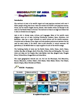 WATCH AND LEARN Physical geography of Asia, an introduction