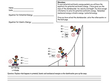 Physics - Energy Transformations - Potential&Kinetic Mathe