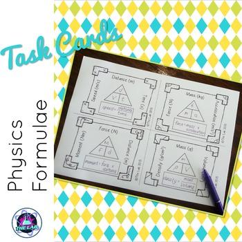 Physics Formula Flash Cards