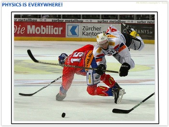 Physics Is Everywhere! Hockey example