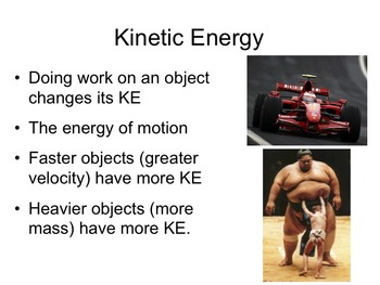 Physics -- Kinetic Energy (complete lesson)