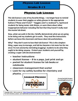 Physics Lab License - A Management Tool