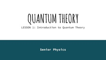 Physics Lectures - Quantum Theory