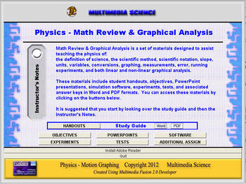 Physics - Math Review & Graphical Analysis Unit - Click &