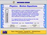Physics Motion Equations Unit - Click & Teach Bundle