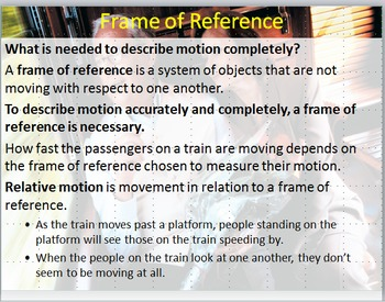 Physics Motion and Forces Review PowerPoint and Worksheet