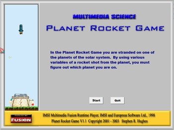 Physics - Newtons 2nd Law - Planet Rocket Game Software  -