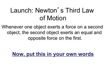 Physics - Newton's Third Law (Complete Lesson)