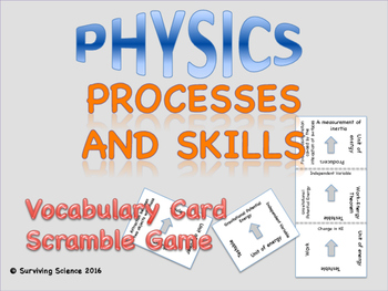 Physics Processes and Skills Vocabulary Scramble Game