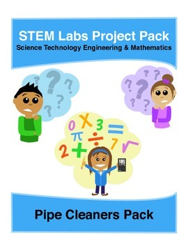 Physics Science Experiments STEM PACK - 5 pipe cleaners pr