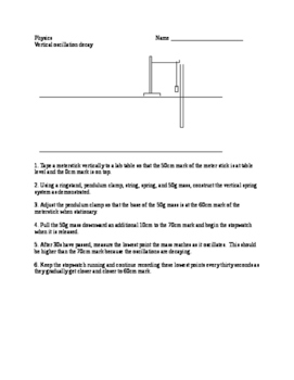 Physics lab - vertical oscillator decay