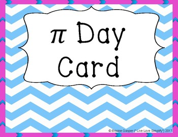 Pi Day Card - FREEBIE