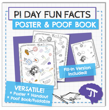 Pi Day Coloring Page Poster and Poof Book