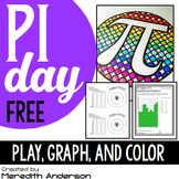 Pi Day FREEBIE: Graphing, Coloring, and a Game