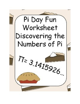 Pi Day Fun Worksheet Discovering the Number of Pi