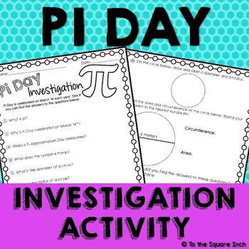 Pi Day Investigation Activity *Freebie*