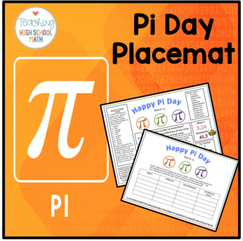 Pi Day Placemat and Activities