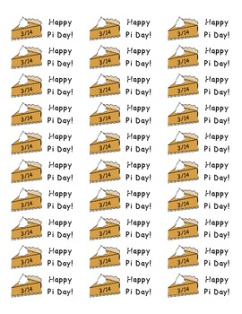 Pi Day Stickers - Free!