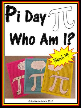 Pi Day - Who Am I Activity
