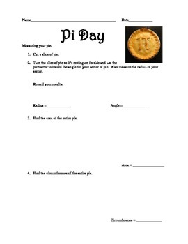 Pi Day Worksheet